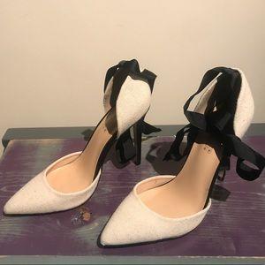 Shoe dazzle Linen Alexandria pumps